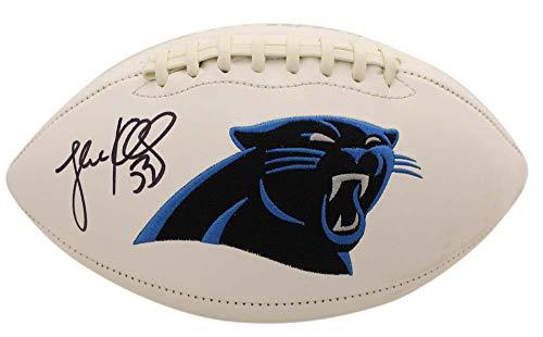 Luke Kuechly Autographed/Signed Carolina Panthers Logo Football BAS