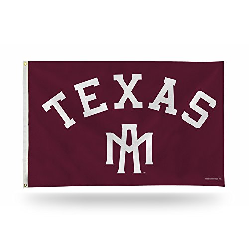 - Rico Industries NCAA Texas A&M Aggies 3-Foot by 5-Foot Single Sided Banner Flag with Grommets