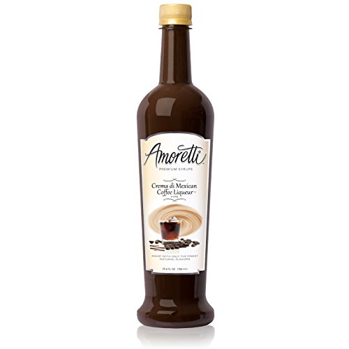Amoretti Premium Syrup, Crema Di Mexican Coffee Liqueur Type Syrup, 25.4 Ounce