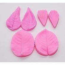 Leaf Mold 3Pcs/set, KOOTIPS Silicone Leaf Petal Veiner Sugar Craft Tools Fondant and Gum Paste Mold