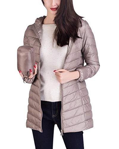 Glamorous Plus Khaki Piumino Facile Giaccone Prodotto Outerwear Puro Hot Fashion Piumini Incappucciato Eleganti Colore Fit Lunga Semplice Invernali Slim Donna Manica xpRPqwxB