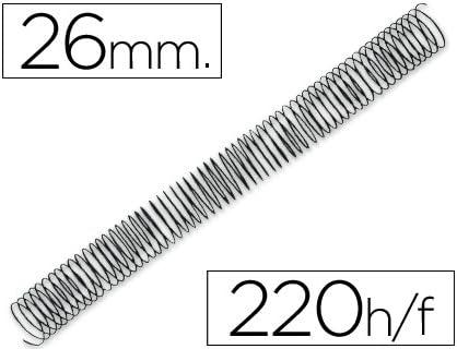 Encuadernador 50 unidades, 2 piezas, 19 mm Q Connect