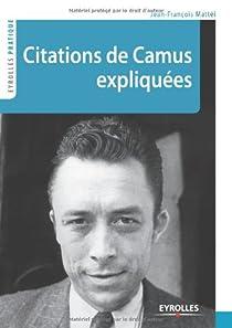 Citations de Camus expliquées par Mattéi