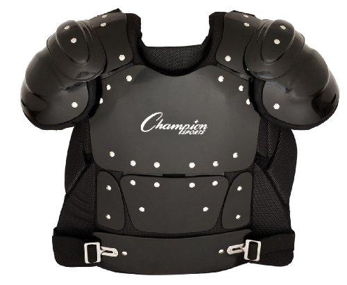 Champion Sports Umpire Chest Protector: 13 Inch Lightweight Soft Shell Umpire Armor for Softball & Baseball Equipment