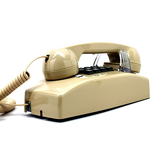 Wall Phone, Single-line, 2554 Traditional style analog telephone, Beige color. Must have Wall Jack for your installation