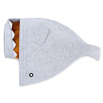 COL PETTI Gato Cama Tiburón Mascota Casa Gato Casa De Perro De Invierno Caliente