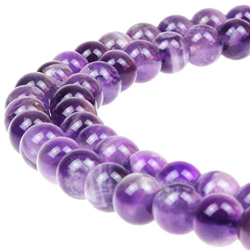 8MM Natural Dream Amethyst Agate Round Stone Beads for Jewelry Making DIY Bracelets - Bracelet Dream Agate
