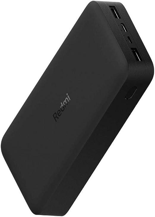 Xiaomi Redmi External Battery 18w Fast Charge Black 20000mah Micro Usb Input Usb C Output 2x Usb A Elektronik