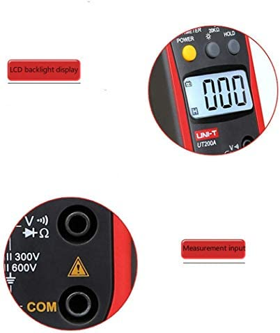 Zjcpow Digital Clamp Multimeter, AC Current AC/DC Voltage Resistance Diode Tester,LCD Backlight Manual Range Data Hold xuwuhz