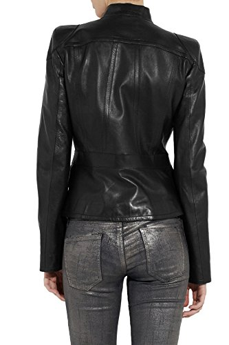 Junction Leather Chaqueta Negro Para Mujer dx8wOx