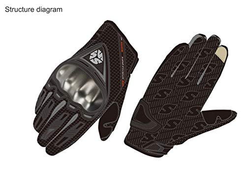 SCOYCO Men's Race Extreme Sports Protective Outdoor Motorcycle Gloves(Black,XL) by SCOYCO (Image #5)