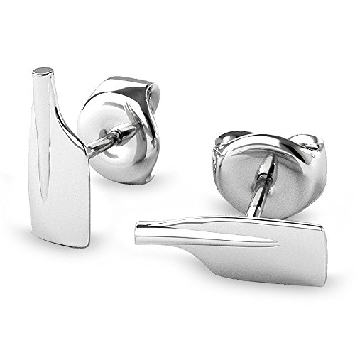 Oar Sterling Silver Stud Earrings by Strokeside Designs / Rowing Jewelry / 925 Sterling Silver / Crew Gift / Oar Jewelry