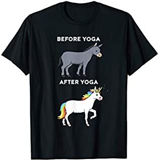 Before Yoga After Yoga Unicorn T | Funny Yoga T-shirt | Size S - 5XL