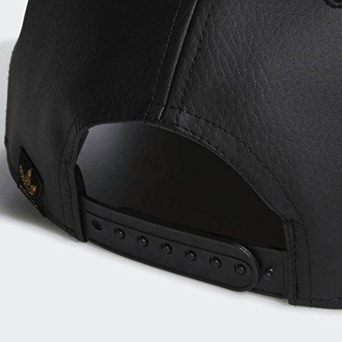 dc40454db640b8 adidas Men's Originals Trefoil Mixed Snapback Cap, black leather/gold, One  Size