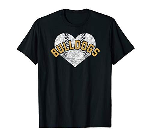 Bulldogs Baseball Softball Shirt High School Team Mascot Mom