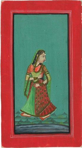 Indian Miniature Antique Original Art, JL-Ind-102, SALE! (Indian Miniatures: Antique Original Art from India)
