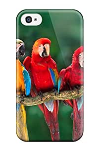 Best 6686839K13912937 Defender Case For Iphone 4/4s, Macaws Pattern