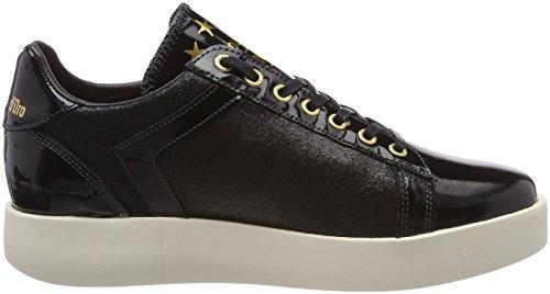 Pantofola D'oro Low Donne Femme Glitter black Baskets Lecce Schwarz pFHRq4