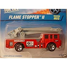 Mattel Hot Wheels 1997 1:64 Scale Red Flame Stopper II Fire Truck Die Cast Car Collector #617