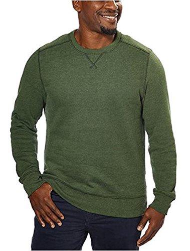 G.H. Bass Men's Crew Neck Sweatshirt, Green, Medium ()