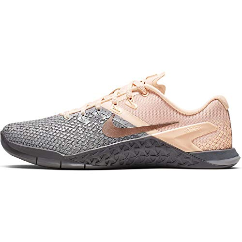 Nike Women's Metcon 4 XD Metallic Training Shoe Atmosphere Grey/Metallic Red Bronze Size 8.5 M US