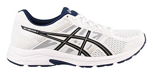 ASICS Men's Gel-Contend 4 Running Shoe, White/Black/Insignia Blue, 10 Medium US
