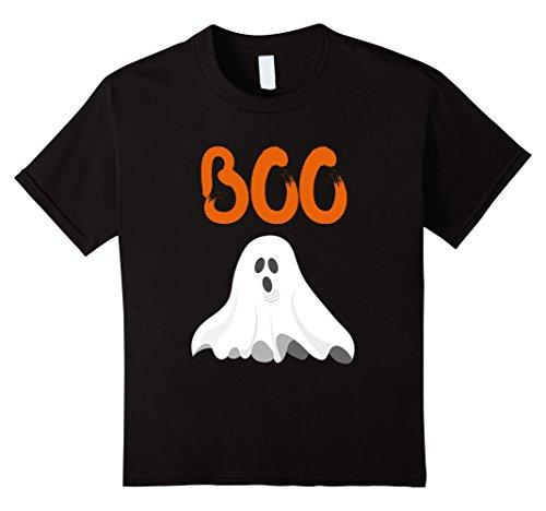 Cute Childrens Halloween Shirts (Kids Cute Halloween Boo Shirt Girls Boys Kids Toddler Ghost Tee 10 Black)
