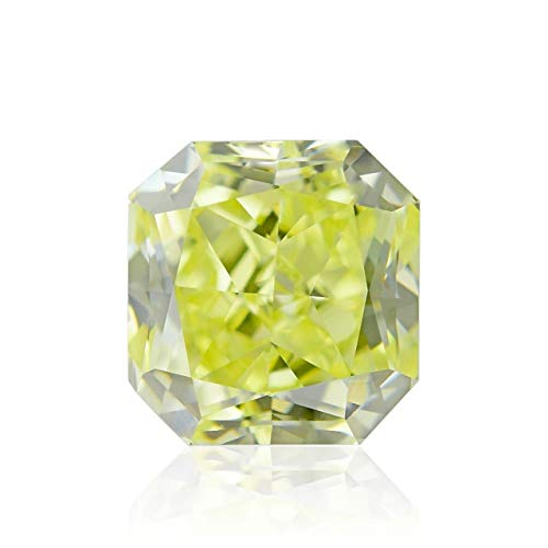 Leibish & Co 0.52Cts Fancy Yellow Loose Diamond Natural Color Radiant Cut GIA Certificate ()