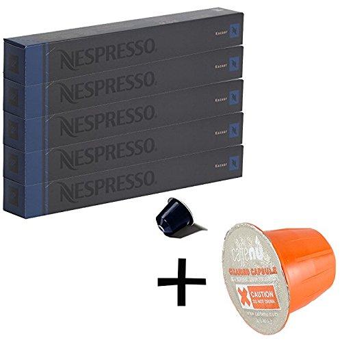 (유익 세트/세제 샘플1 개부착) NESPRESSO 네스프레소 캡슐 커피 카 짜르 1개 10캡슐x5개 세트