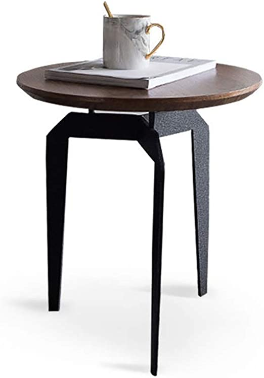 Mesas auxiliares de madera oscura y negra Mesa de centro con ...