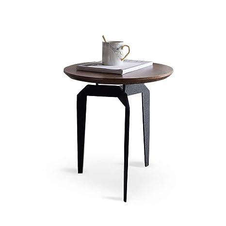 Amazon.com: GZLL Dark Wood and Black End Tables Walnut ...