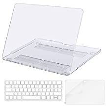 Mosiso Plastic Hard Case with Keyboard Cover with Screen Protector for Newest Macbook Pro 13 Inch with/without Touch Bar (A1706/A1708, 2017 & 2016 Release), Crystal Clear