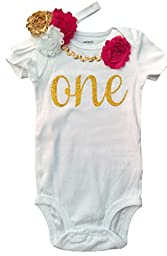 First Birthday Girl Shirt by Perfect Pairz USA Made Outfit