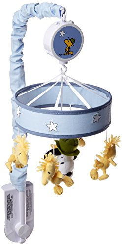 Peanuts Snoopy's Campout Stars Musical Mobile, Blue/White (Snoopy Musical Mobile)
