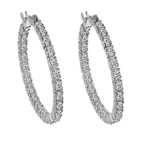 (Crystal Hoop Earrings for Women 18k Gold Crystal Hoop Earrings)