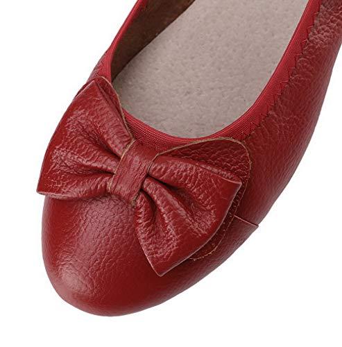 GMMDB006742 Donna Ballet AgooLar Puro Tacco Rosso Punta Luccichio Basso Tirare Chiusa Flats vZdqZwB