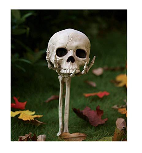 Skull in Hand Halloween Horror Party Garden Yard Lawn Stake Decoration]()