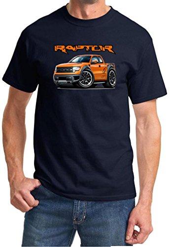 2010-14 Ford SVT Raptor F150 Pickup Truck Full Color Design Tshirt XL Navy Blue