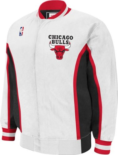 d24df3ca6fefd Chicago Bulls 1992-1993 Mitchell & Ness Authentic White NBA Warm Up Jacket  (M