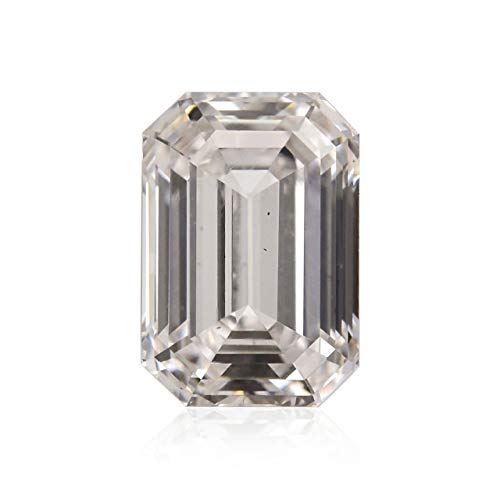Leibish & Co 0.71Cts Faint Pinkish Brown Loose Diamond Natural Color Emerald Cut GIA Cert