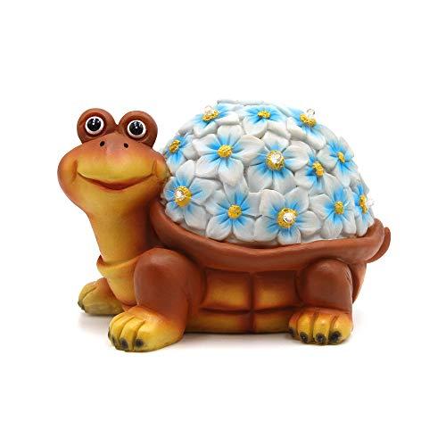 (Petrala Solar Turtle Figurine Lights Garden Decor 9 LEDs Small Outdoor Lighting for Yard Patio)