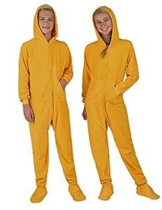 Footed Pajamas - Creamsicle Kids Hoodie Fleece