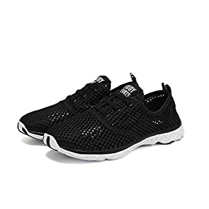 Quicksilk Women Quick Drying Mesh Slip On Water Shoes (8 B(M) US, Black)