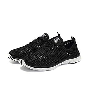 Quicksilk Women Quick Drying Mesh Slip On Water Shoes (5 B(M) US, Black)