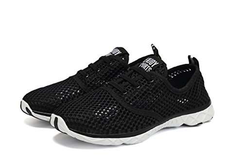 Quicksilk Women Quick Drying Mesh Slip On Water Shoes (5 B(M) US, Black)