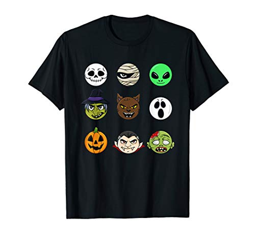 Scary Faces Halloween Funny T -