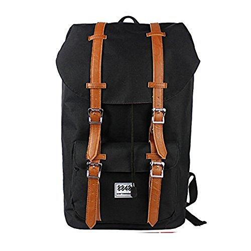 8848 Unisex' s Travel Hiking Backpack Waterproof Material, Black