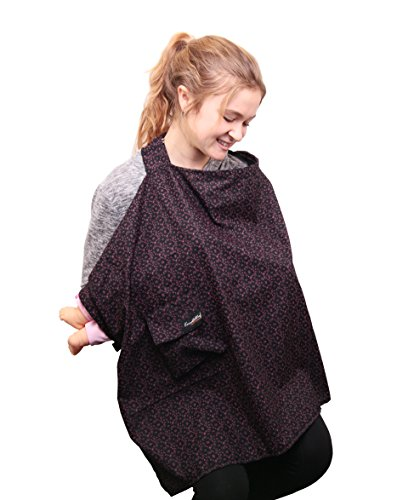Knuddelstuff 'Bedford' Privacy Nursing Breastfeeding Cover Up Apron Blanket – Adjustable – Velcro Storage Pocket
