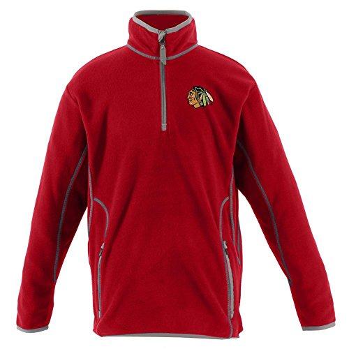 Antigua Fleece Micro Pullover - Antigua Chicago Blackhawks Youth Pullover Jacket (YTH (18-20))