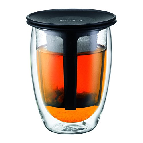 Check Out This Bodum Tea For One Double 0.35-Liter Wall Glass Tea Strainer, 12-Ounce